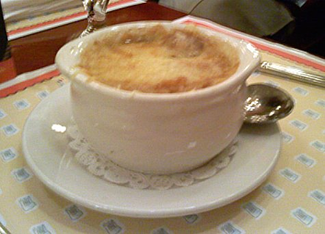 French Onion Soup from Chefs de France restaurant in Epcot.
