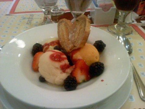 An assortment of fresh sorbets from Chefs de France
