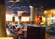 Inside the Jiko restaurant at the Animal Kingdom Lodge