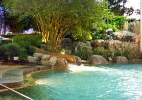 Slide entering pool at Disney's Beach Club Resort