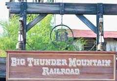 Entrance to Big Thunder Mountain Railroad