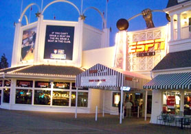 The ESPN club located on the boardwalk at Disney's Boardwalk Inn