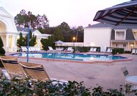 The quiet pool at The Boardwalk Inn