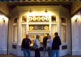 Spoodles Pizza window located on Disney's Boardwalk