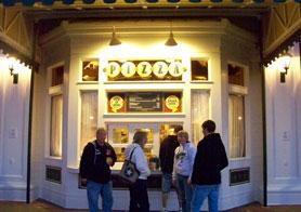 Spoodles Pizza window located on Disney's Boardwalk