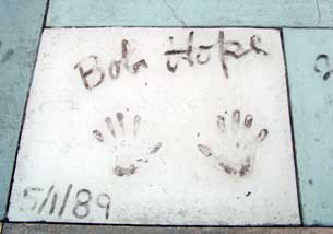 Bob Hope hand prints outside the Grauman's Chinese Theater at Disney's Hollywood Studios