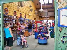 Inside the ten dollar store at Downtown Disney Marketplace