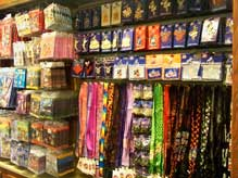 Inside the Pin Traders shop at the Downtown Disney Marketplace