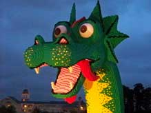 Giant Lego Dragon at Downtown Disney Marketplace