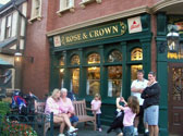 The rose and Crown restaurant in the United Kingdom in Epcot.