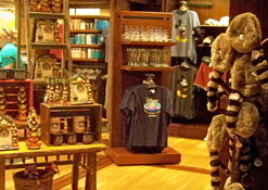 The Mercantile Giftshop in the lobby at The Wilderness Lodge Resort