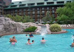 Main pool at Disney's Wilderness Lodge Resort