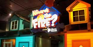 Wheres the Fire? exhibit in Innoventions West at Epcot