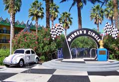 All Star Movies Resort Herbie in winners circle.