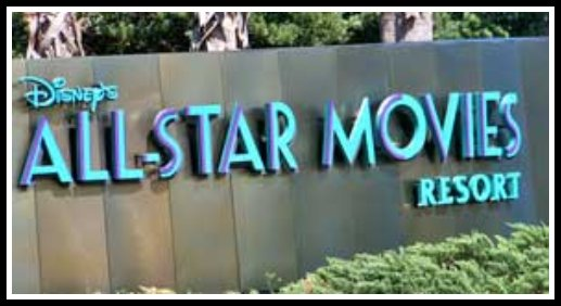 Entrance to All Star Movies Resort