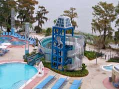 The Pool and Slide at the Bake Lake Tower Resort