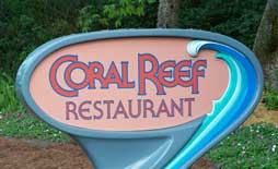 The Coral Reef Restaurant  is located in The Seas with Nemo and Friends