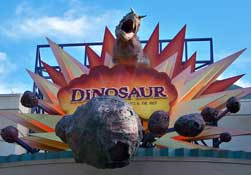 Entrance to the ride Dinosaur at Disney's Animal Kingdom.