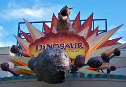 Entrance to the ride Dinosaur at Disney's Animal Kingdom.