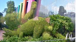 Dinosaurs outside The Universe of Energy Pavilion at Epcot