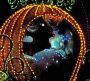 Cinderella's Carraige in the Spectromagic Parade at the Magic Kingdom
