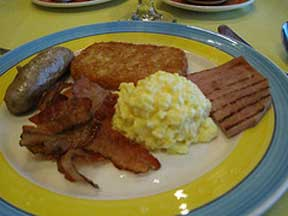 Disney Breakfast plate.