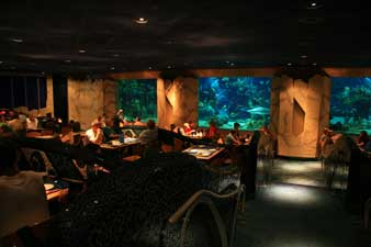 The Coral Reef Restaurant in the Future World Section of Epcot