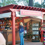 Outdoor shopping in the Germany Pavilion.