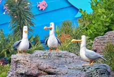 These Seagulls greet you as you enter the Nemo and Friends Pavilion