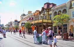 Main Street, USA in the Magic Kingdom