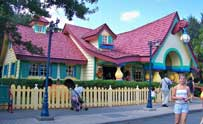 Mickey's House in Mickey's Toontown fair