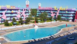 Bowling pin pool at Disney's Pop Century Resort