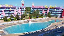 Bowling pin pool at Disney's Pop Century Resort