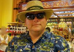 Dad in Polynesian Resort