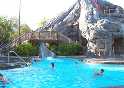 The Volcano Pool at the Polynesian Resort