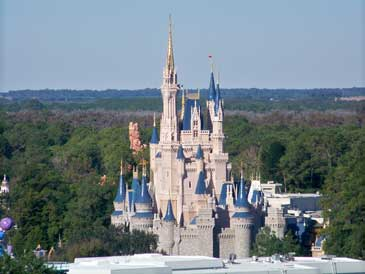 view of Cinderella Castle from the Contemporary Resort