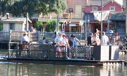 Take a raft over to Tom Sawyer's Island