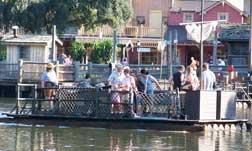Take a raft over to Tom Sawyer's Island