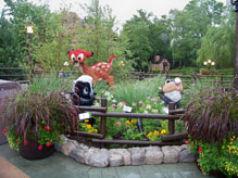Bambi and Friends topiary located in Canada at Epcot
