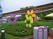 Topiary flowers located in Future World
