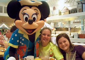 Mack and Sue with Minnie Mouse at Disney's Beach Club Resort
