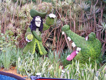 Captain Hook topiary at the 2009 Flower and Garden Festival