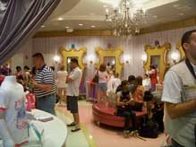Inside the salon at the Bibbidi Bobbidi Boutique