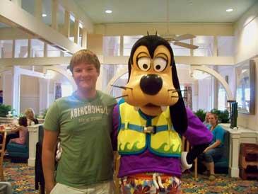 Andrew age 15 with Goofy