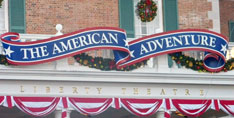 The America Adventure Show at the World Showcase in Epcot.