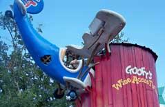 Goofy's Barnstormer roller coaster.