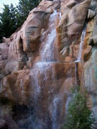 Waterfall located in the canada Pavilion at Epcot.