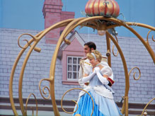Cinderella on her carraige in the Celebrate Dreams Come True Parade
