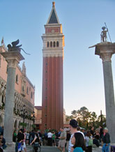 The bell tower in the Italy pavilion at Epcot.