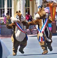 Family Fun Day Parade on Main Street, USA